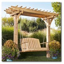 Easy Swinging Arbor with Swing Woodworking Plan